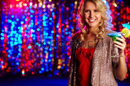 Posh vertical portrait femme Photo stock © pressmaster