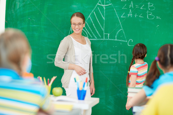 Teacher at lesson Stock photo © pressmaster