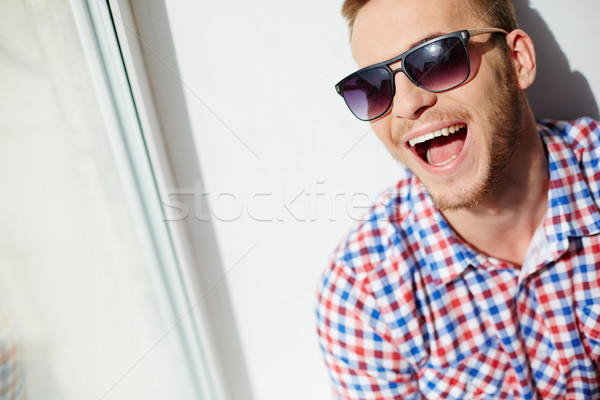 Lad in sunglasses Stock photo © pressmaster