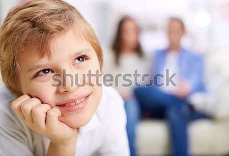 Sonriendo chico retrato nino padres mujer Foto stock © pressmaster