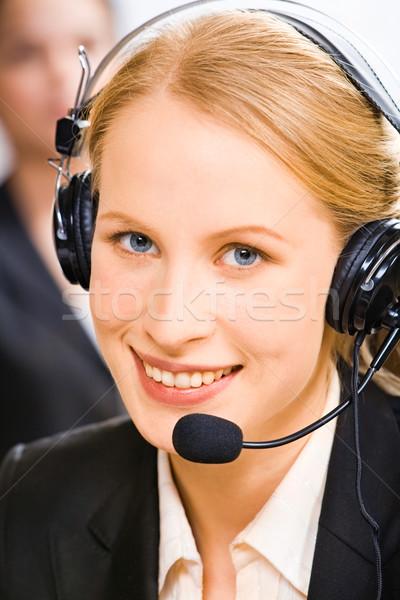 Berater Gesicht jungen lächelnd Frau Stock foto © pressmaster