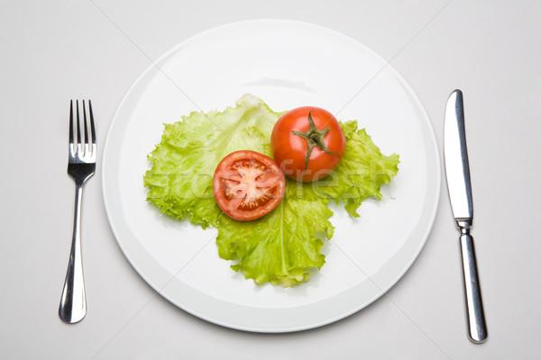 Kahvaltı görüntü domates yeşil yaprak doğa yaprak Stok fotoğraf © pressmaster
