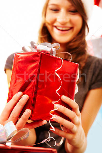 Giving a present  Stock photo © pressmaster