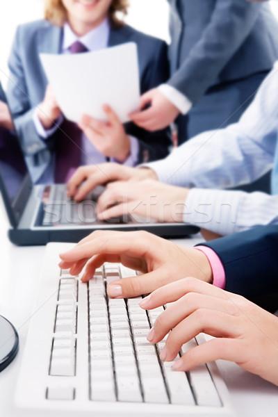 Munka közelkép néhány emberek üzlet technológia Stock fotó © pressmaster