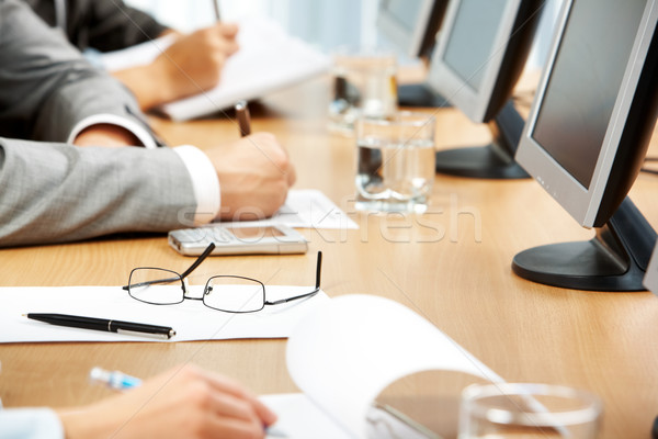 Stock fotó: üzlet · oktatás · kép · emberi · kéz · készít · jegyzetek