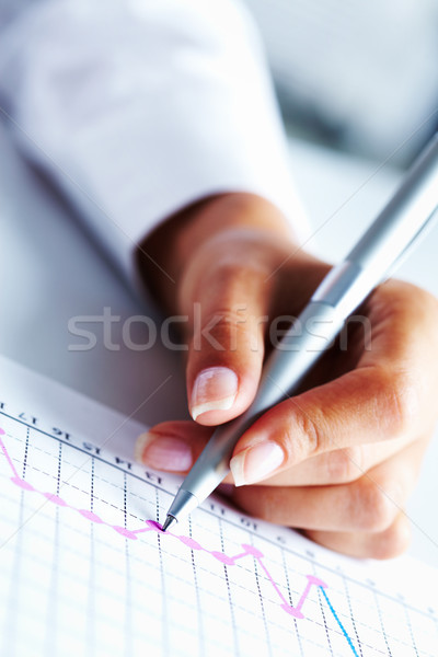 Hand with pen Stock photo © pressmaster