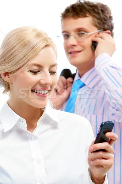 Reading sms Stock photo © pressmaster