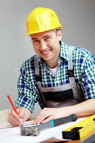 Ingegnere lavoro ritratto sorridere architetto Foto d'archivio © pressmaster