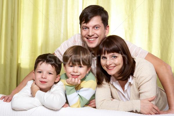牧歌 家族の肖像画 幸せな家族 4 家族 幸せ ストックフォト © pressmaster