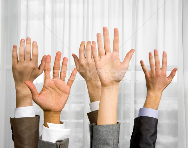 Raised hands Stock photo © pressmaster