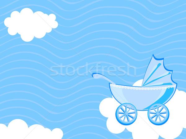 Foto stock: Nublado · céu · bebê · abstrato · criança