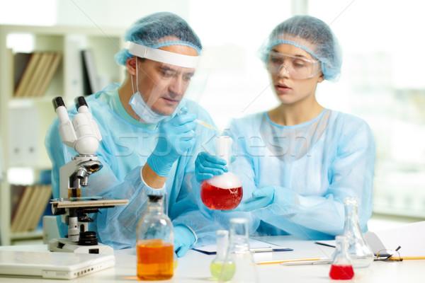 Microbiological test Stock photo © pressmaster