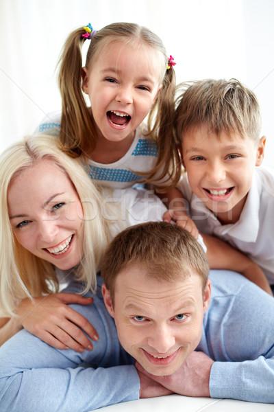 Photo stock: Joyeux · humeur · portrait · famille · heureuse · rire · femme