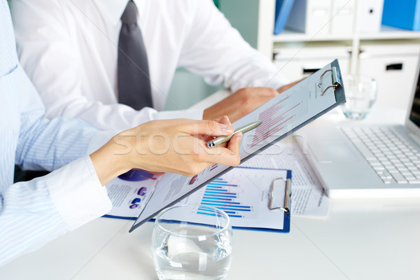 Toelichting afbeelding menselijke handen discussie business Stockfoto © pressmaster
