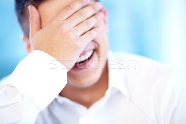 笑 楽しい ビジネスマン 笑い 目 ストックフォト © pressmaster