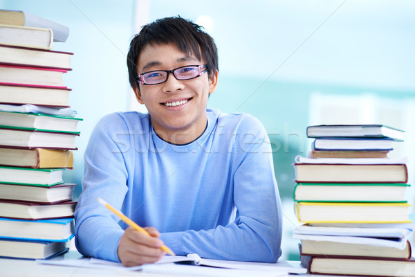 Cheerful learner Stock photo © pressmaster