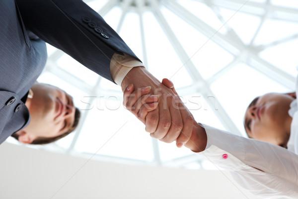 Foto stock: Gesto · primer · plano · gente · de · negocios · cámara · negocios
