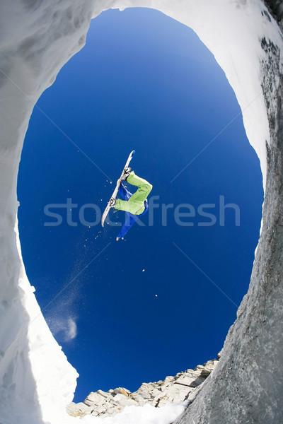 冬天 訴諸 視圖 不怕 運動員 商業照片 © pressmaster