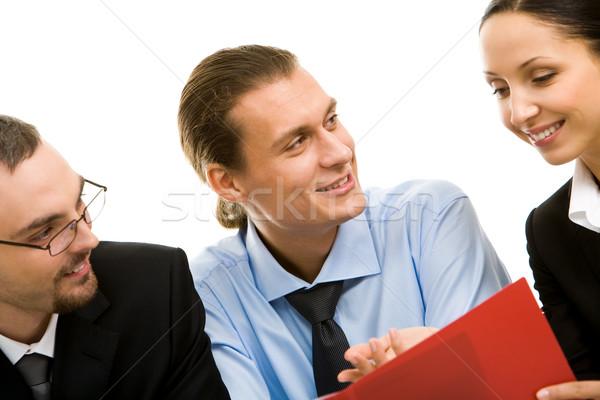 Podział pomysły obraz ludzi biznesu działalności Zdjęcia stock © pressmaster