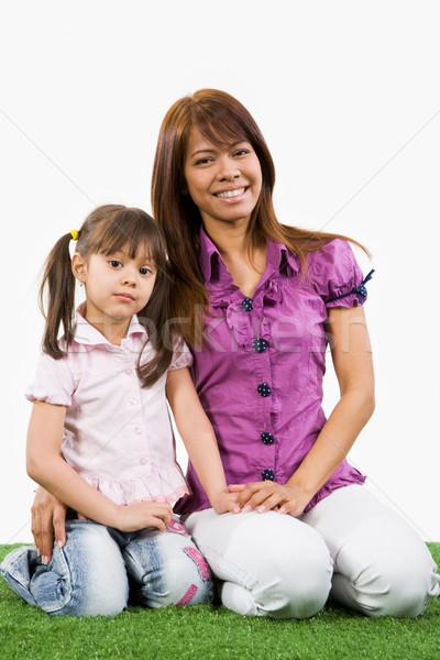 Foto stock: União · retrato · bastante · feminino · filha