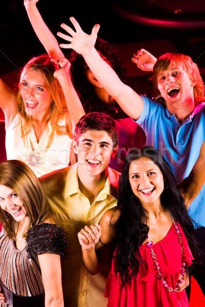 Feliz humor alegre amigos discoteca Foto stock © pressmaster