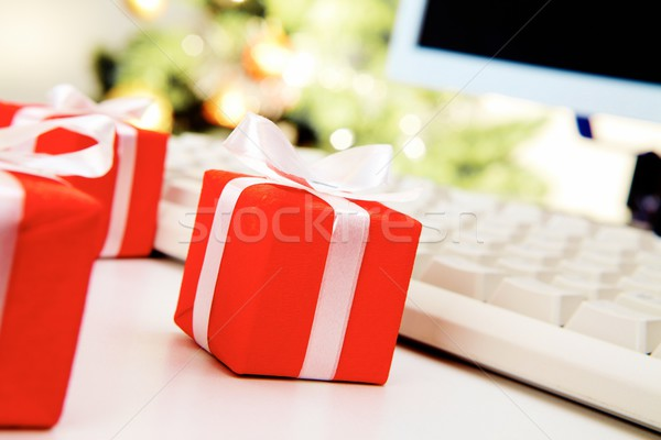 Small giftboxes Stock photo © pressmaster