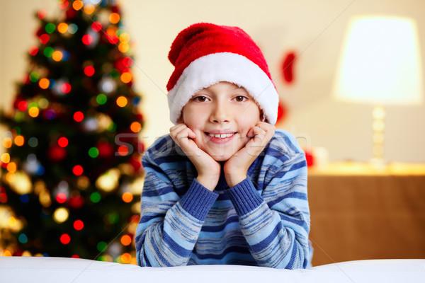 Navidad chico adorable nino sombrero Foto stock © pressmaster