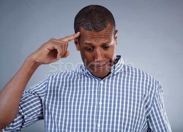困惑して 男 画像 小さな アフリカ ストックフォト © pressmaster