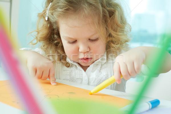 Learning to draw Stock photo © pressmaster