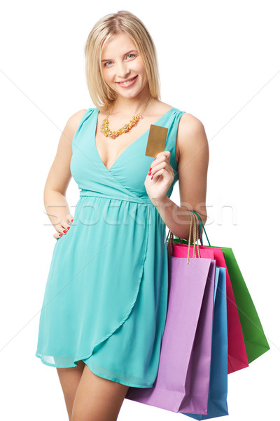 Shopper with credit card Stock photo © pressmaster