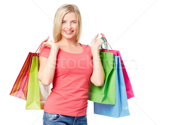Customer with paperbags Stock photo © pressmaster