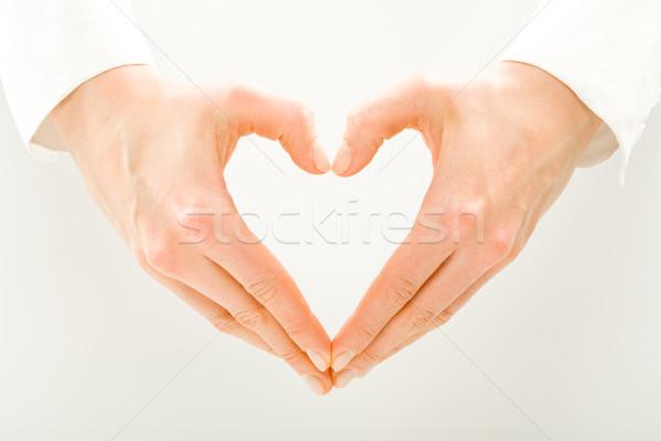 Symbool hart afbeelding vrouw liefde achtergrond Stockfoto © pressmaster