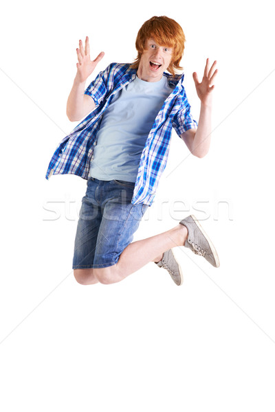 Stock photo: In jump