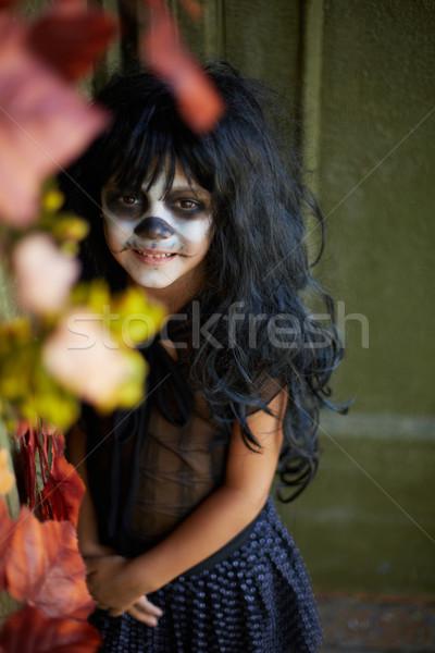 Kötü gelenek portre kız halloween Stok fotoğraf © pressmaster