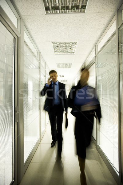 Stock photo: Busy people