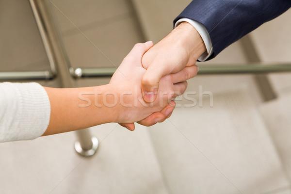 Stock fotó: Együttműködés · kép · partnerek · kézfogás · aláírás · szerződés