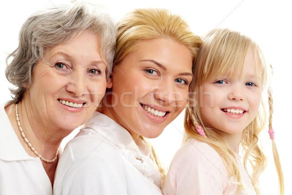ストックフォト: 世代 · 画像 · 老婦人 · 若い女性 · 少女 · 子