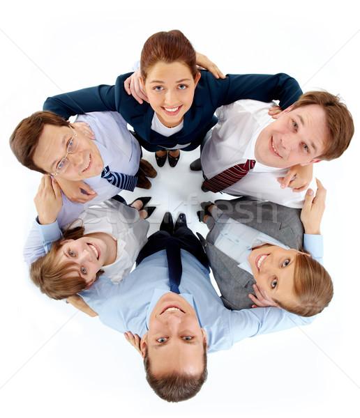 Barátság fölött kilátás kör sikeres munkatársak Stock fotó © pressmaster