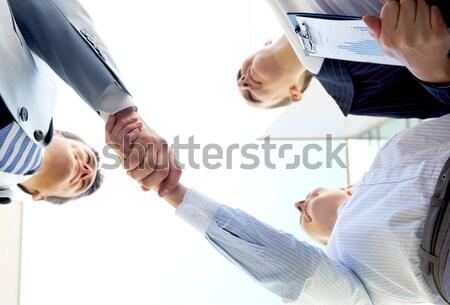 Rząd kilka ludzi ręce Zdjęcia stock © pressmaster