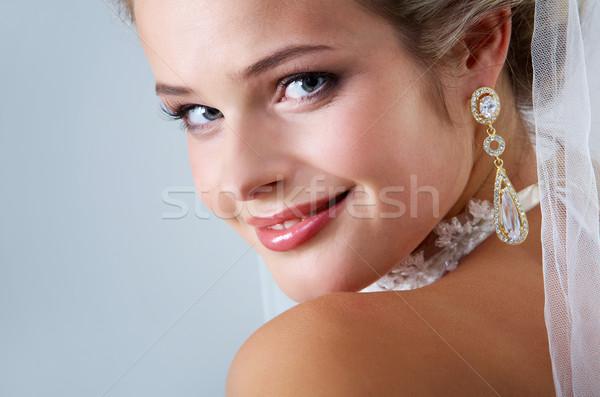 żona portret dość oblubienicy patrząc kamery Zdjęcia stock © pressmaster