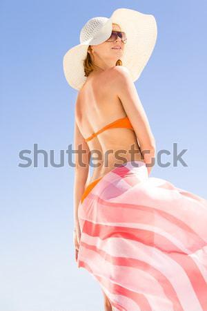 Americano menina topless mulher posando Foto stock © pressmaster