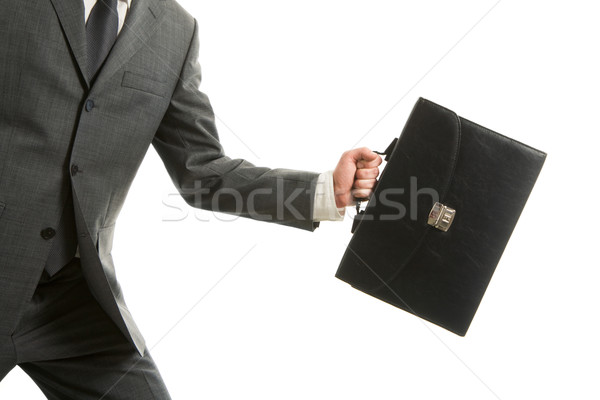 Carrying briefcase Stock photo © pressmaster