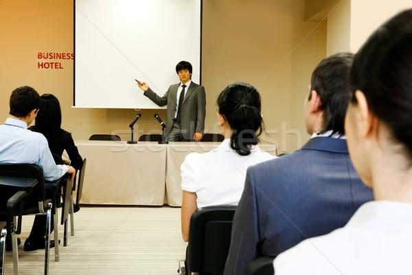 Photo stock: Conférence · image · affaires · quelque · chose