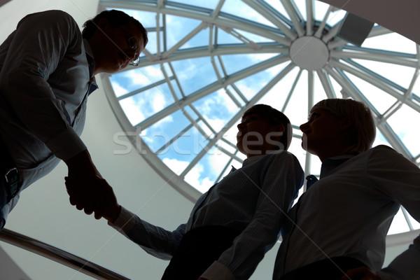 консенсус контуры деловые люди соглашение бизнеса Сток-фото © pressmaster