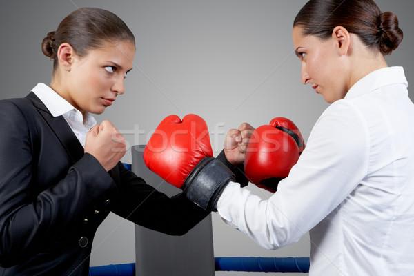 Kavga fotoğraf agresif iş kadın kavga Stok fotoğraf © pressmaster