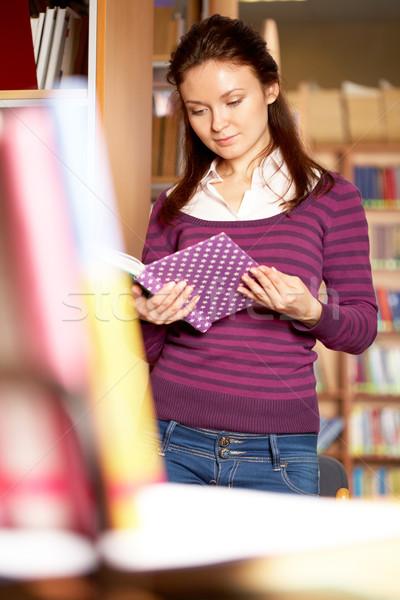 Stock photo: Student reading