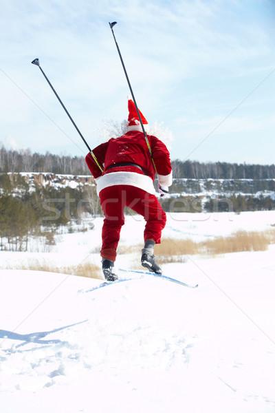 Santa on skies  Stock photo © pressmaster