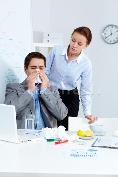Blowing nose Stock photo © pressmaster