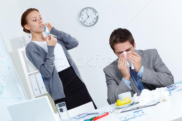 Virus imagen empresario socio mirando Foto stock © pressmaster