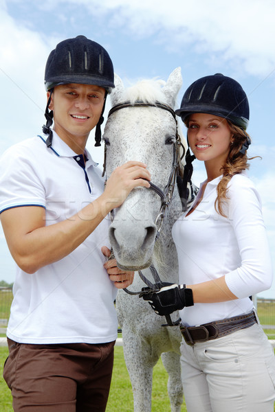 Couple and horse Stock photo © pressmaster